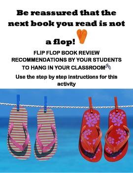 Book Recommendation (Don't let the next book be a flop/ flip flop activity)