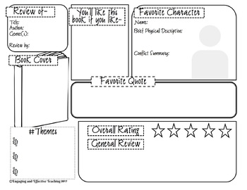 Book Recommendation Graphic Organizer