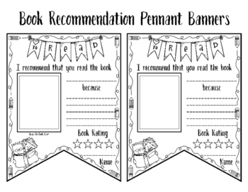 Book Recommendation Pennant Banner