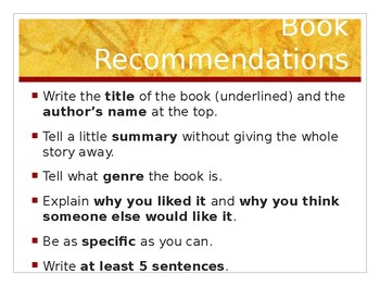 Book Recommendation Powerpoint