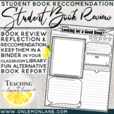 Book Recommendation Sheet | Review Alternative Book Report Template Reflection