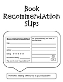 Book Recommendation Slips