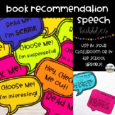 Book Recommendation Speech Bubbles
