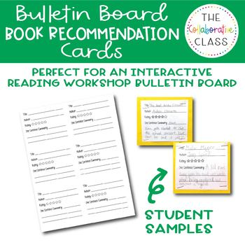 Book Recommendation Squares for Bulletin Board