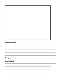 Book Recommendation Worksheet