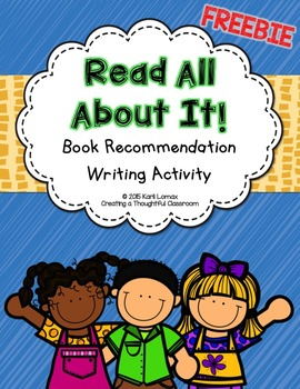 Book Recommendation Writing FREEBIE