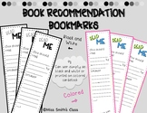 Book Recommendation bookmarks