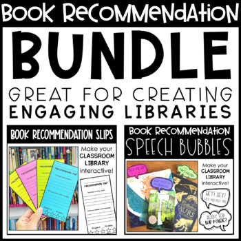Book Recommendations BUNDLE - Classroom Library