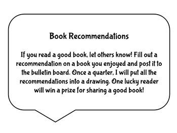 Book Recommendations Bulletin Board