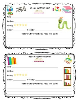 Book Recommendation Cards