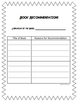 Book Recommendations Page