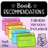 Book Recommendation Templates for Students