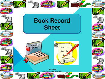 Book Record Sheet