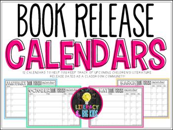 Book Release Calendars