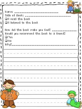 Fall Book Report