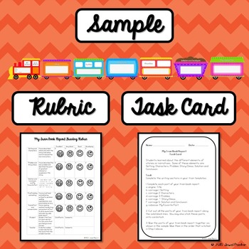 Creative Book Report (Train Template with Rubric)