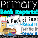 Primary Book Report Templates