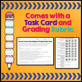 Creative Book Report (Ice Cream Template with Rubric)