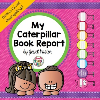 Creative Book Report (Caterpillar Template with Rubric)