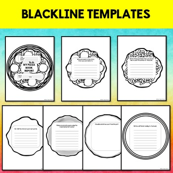 creative book report pizza template with rubric by jewel s school gems