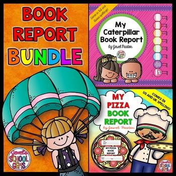 Creative Book Reports BUNDLE (Caterpillar and Pizza Templa