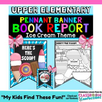 Book Report Form: Ice Cream Theme