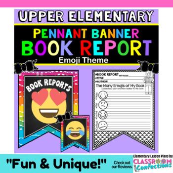 Book Report Form: Emoji Theme