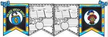 Book Report Form: Unlock a Book Theme