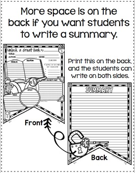 Book Report Form: Unlock a Book Theme