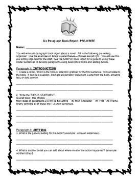 Book Report: Novel Essay Tips, Organizers, Model & Rubric  5-8