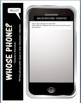 Creative Cell Phone Project-Characterize Literary-Historical-Current Figures