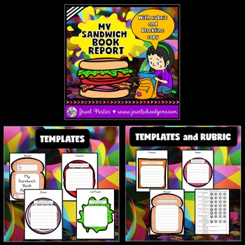 Creative Book Reports BUNDLE (Sandwich and Cake Templates)