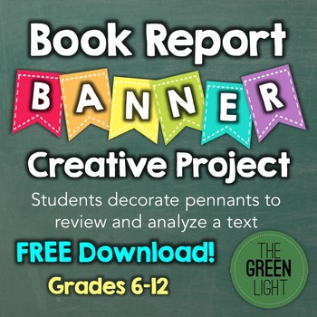 Book Report Banner Pennant Project -- FREE! by The Green Light