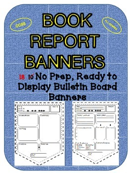 Book Report Banners (CCSS) Bulletin Board Display- Reading Response