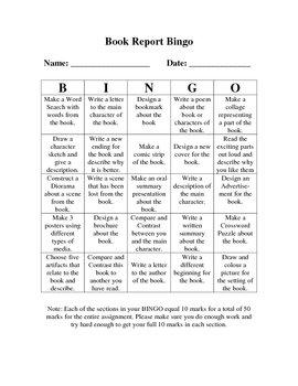 Book Report Bingo #2