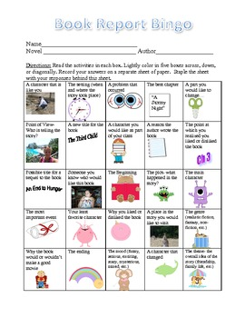 Book Report Bingo: A Fun Way to Respond to Literature