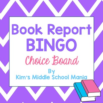Book Report Bingo Choice Board