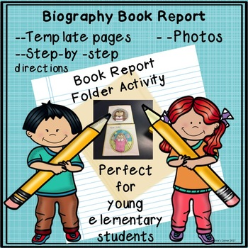 Book Report Biography File Folder Activity Project First Second Third Grade