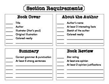 Book Report: Book Jacket Cover Template