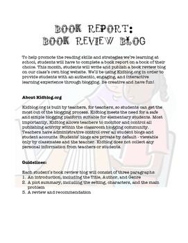Book Report: Book Review Blog