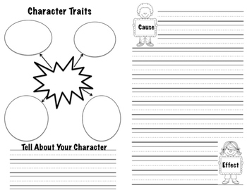 Book Report Booklet - Book Summary, Character Traits, Cause & Effect