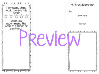 Book Report Brochure!