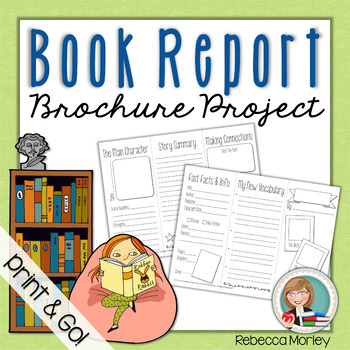 Book Report Brochure Template By Edventures At Home Tpt