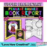 Book Report Template: Bubble Gum Theme