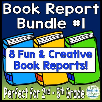 Book Report Bundle #1: 8 Best-Selling Book Reports Perfect for 2nd - 5th Grade