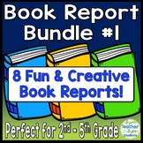 Book Report Bundle #1: 8 Best-Selling Book Report Templates for 2nd - 5th Grade