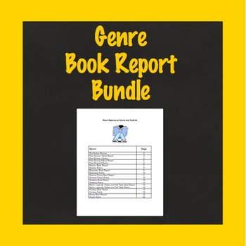 Genre Book Report Bundle, Use With Any Book, 9 Book Projects and Rubrics