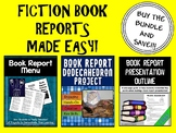 Book Report Project Bundle (Menu & Dodecahedron Projects)