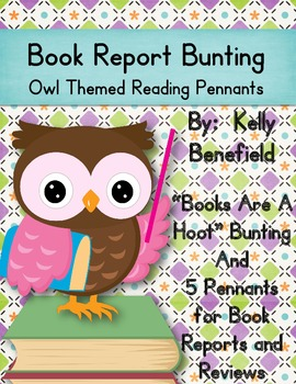 Book Report Bunting Owl Themed Reading Pennants