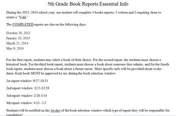 Book Report COMPLETE Common Core Alligned Packet